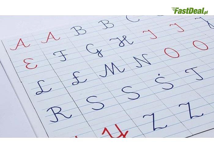 Alfabet magnetyczny MONTESSORI -literki pisane, Komplet pomocny w nauce pisania oraz czytania
