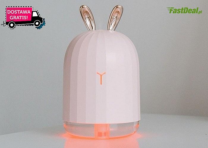 Ultradźwiękowy nawilżacz powietrza w stylowym wydaniu! Do wyboru dwa modele funkcją lampki nocnej.