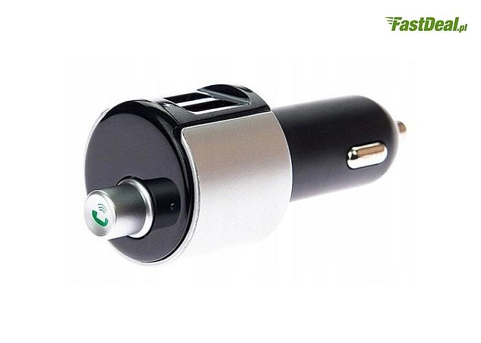 Transmiter FM 2x USB do samochodów! Bluetooth oraz zestaw głośnomówiący!