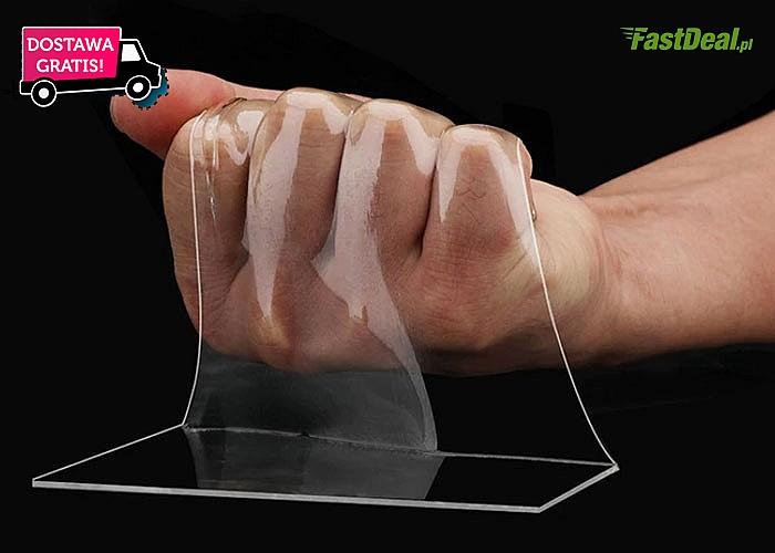 Transparentna, dwustronna taśma wielorazowego użytku! 3 długości do wyboru