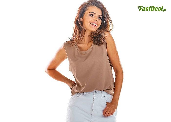 Luźny top bez rękawów! Modne kolory to idealna i oryginalna baza do stylizacji! Najwyższa jakość wykonania! Modny fason!