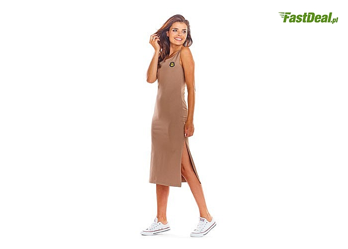 Doskonale dopasowana sukienka na ramiączkach! Najwyższa jakość! Idealna w stylizacjach miejskich i wakacyjnych!