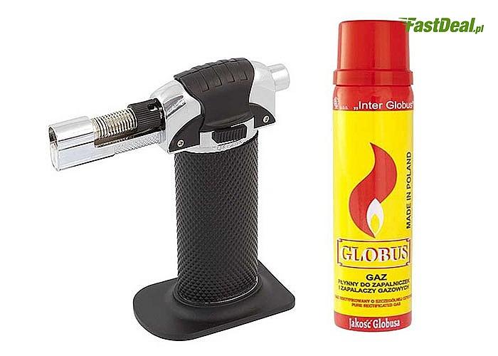 Bardzo łatwy w obsłudze uniwersalny palnik gazowy DO CREME BRULEE! Szerokie zastosowanie w domu i w warsztacie!