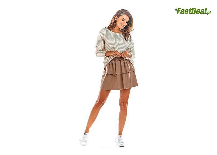 Krótka spódniczka z przyjemnej bawełny! Najwyższa jakość wykonania! Modny fason! Niezwykle subtelna!
