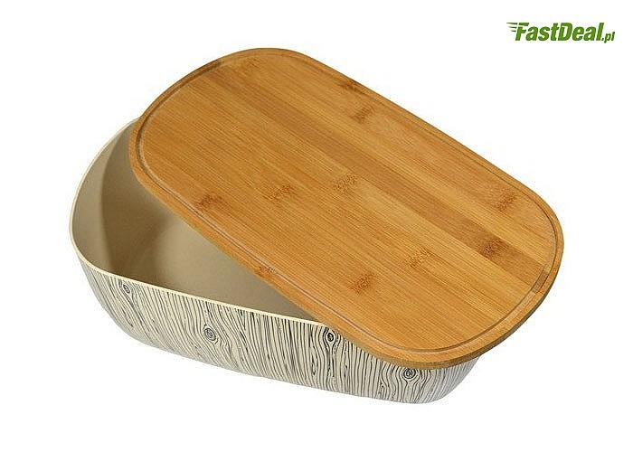 Pojemniki kuchenne z drewnianą pokrywką. 4 modele do wyboru