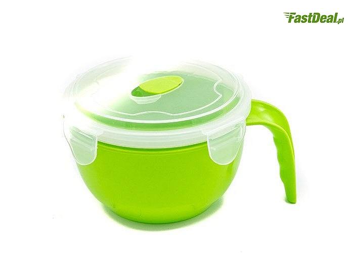 Wszystko co w nim ulokujesz w mgnieniu oka stanie się ciepłe i pyszne! Kubek plastikowy do zupy! 600 lub 800ml!