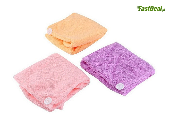 Ręcznik na głowę! Wykonany z mikrofibry! Różne kolory!