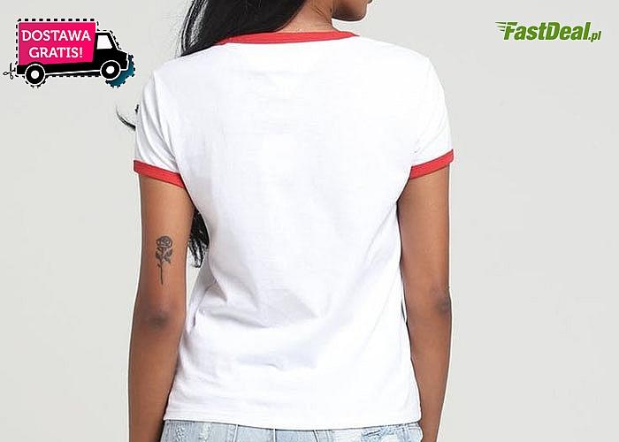 Sportowa, klasyczna propozycja dla każdej kobiety! Bluzka damska Tommy Hilfiger! Doskonała jakość wykonania!