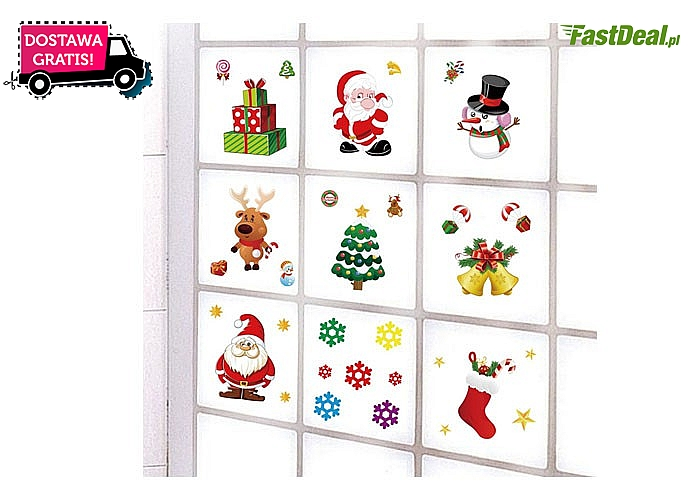 Świąteczny hit! Bożonarodzeniowe naklejki do dekoracji domu!