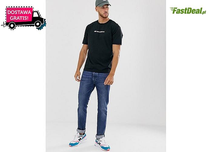 Uniwersalna koszulka męska New Balance. Biała lub czarna do wyboru.