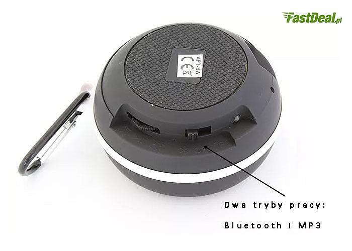 Praktyczny,wysokiej jakości wodoodporny i przenośny głośnik bluetooth ,z zestawem głośnomówiącym