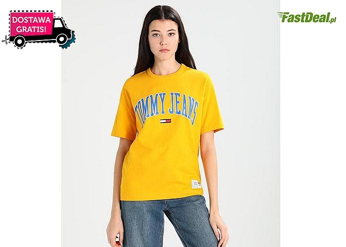 Oversizowa koszulka damska od Tommy Hilfiger. 6 modnych kolorów do wyboru!