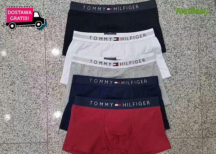 Hit! Bokserki Tommy Hilfiger! 5 sztuk w zestawie! Mix kolorów! Najwyższa jakość!