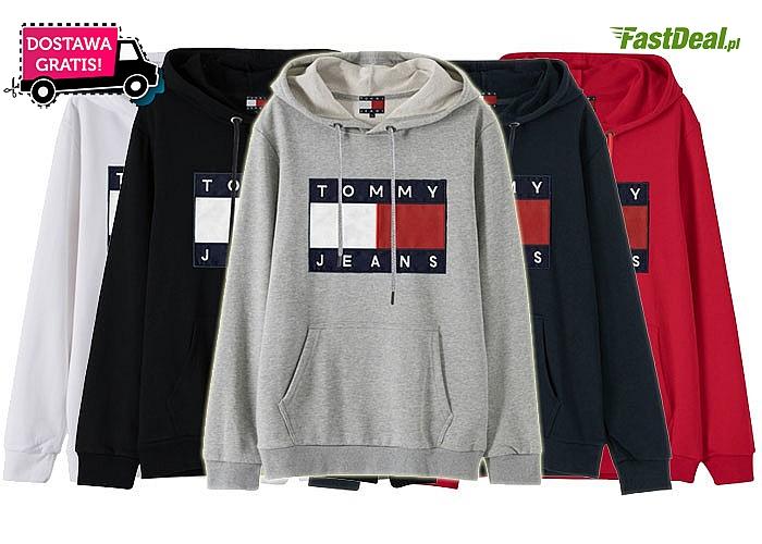 Bluza męska TOMMY! Najwyższej jakości materiał! 5 kolorów do wyboru! Mnóstwo rozmiarów!