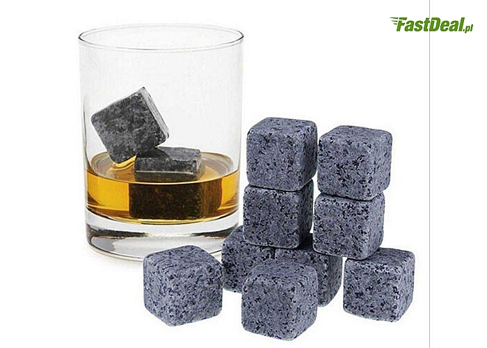 Dla miłośników schłodzonych drinków! Zestaw kostek lodowych! Ze stali nierdzewnej lub kamienne!