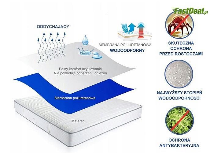 Wodoodporny podkład frotte na materac. Nieprzemakalna membrana poliuretanowa zapewni Ci komfort!