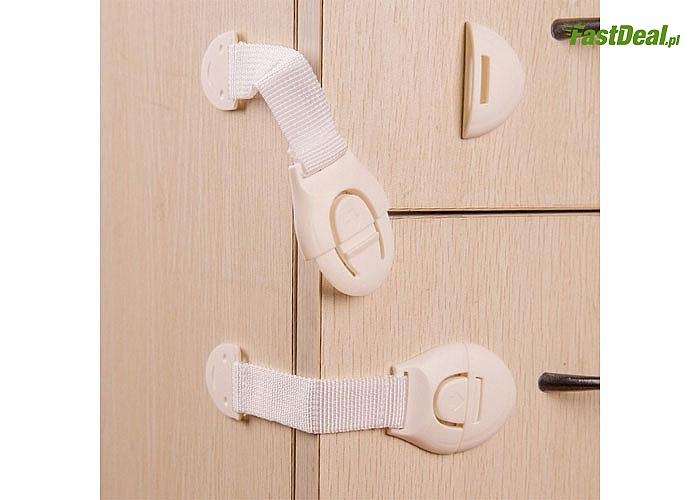 Zadbaj o swoje dziecko! Blokady do szafek oraz szuflad! Bardzo proste w montażu! 10 sztuk w zestawie!