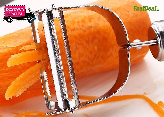 Obieraczka do warzyw ze stali nierdzewnej 2w 1