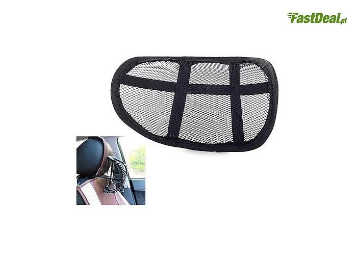Podpórka pod kark zapewnia komfort siedzenia w każdym miejscu