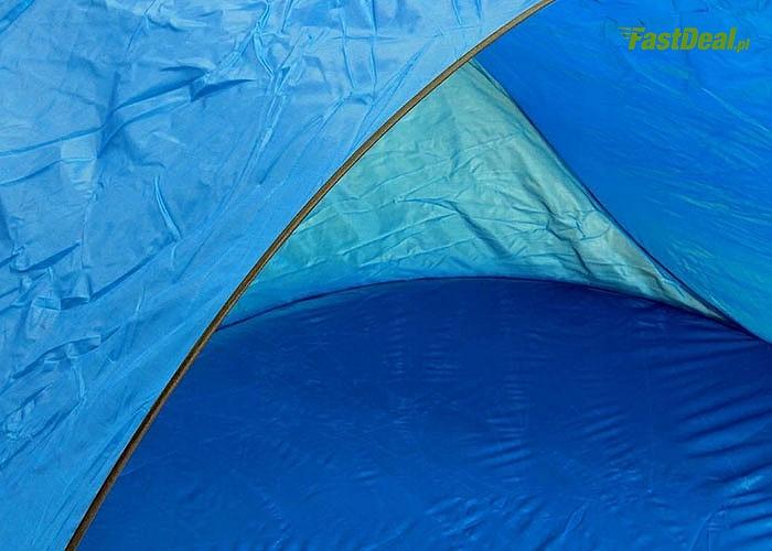 Samo rozkładający się namiot idealny na plaże by schronić się przed słońcem lub wiatrem