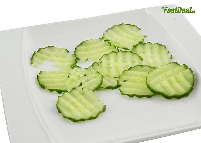 Postaw na fantazyjne kształty! Falisty nóż do krojenia warzyw i owoców!