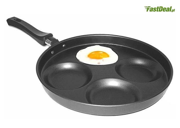 Sadzone zawsze idealne! Patelnia do jajek z 4 przegródkami!