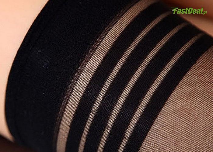 Samonośne, ultra- cienkie pończochy podkreślą Twój seksapil