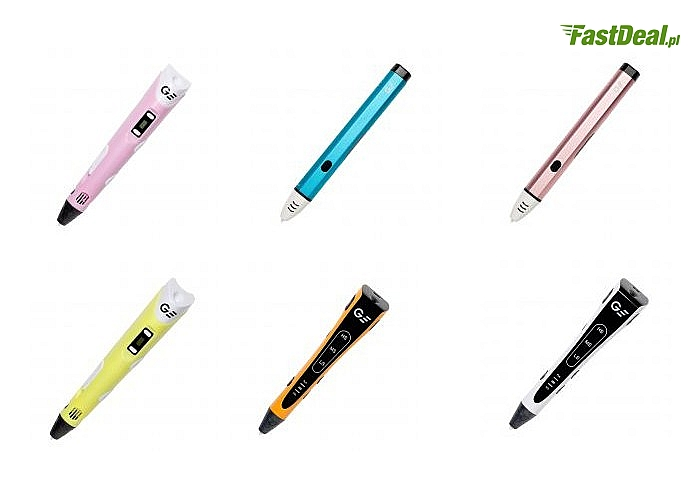 Markowe długopisy 3D! Garett Pen! W magiczny sposób zmienia rysowanie w druk 3D! 3 modele do wyboru! Różne kolory!