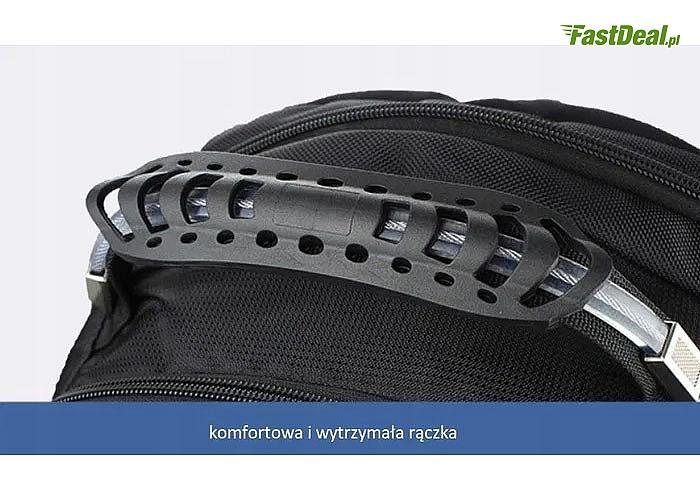Plecak na laptopa ergonomiczny, solidny, wodoodporny