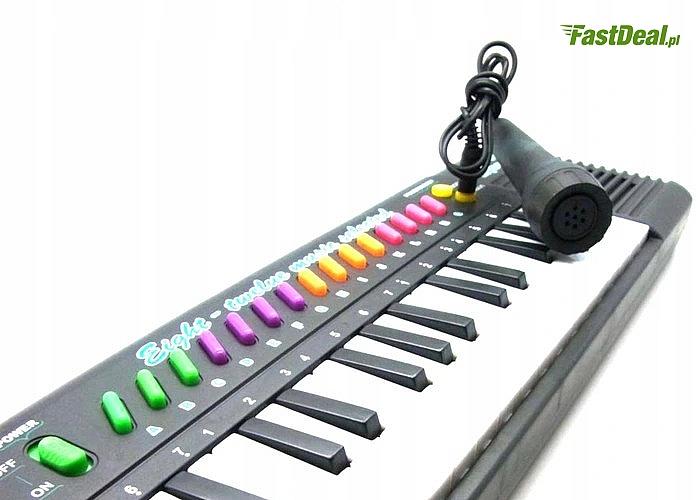 Elektryczne organy z mikrofonem! Świetna zabawka dla umuzykalnionego dziecka!