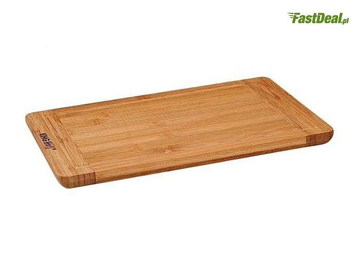 Bambusowa deska kuchenna! Niezwykle trwała i efektowna, dwa modele do wyboru.