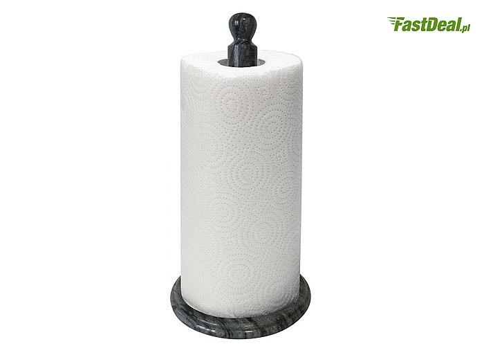 HIT! Stojak marmurowy na ręczniki papierowe Kinghoff! Stabilna podstawa! Rozwijanie bez konieczności przytrzymywania!