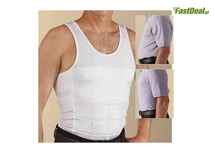 Niezwykle dyskretna dla osób postronnych męska podkoszulka wyszczuplająca - popraw swoją sylwetkę w ciągu kilka sekund
