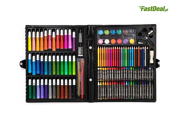 Zestaw artystyczny do malowania! 150 elementów w walizce! Idealny prezent dla dziecka!