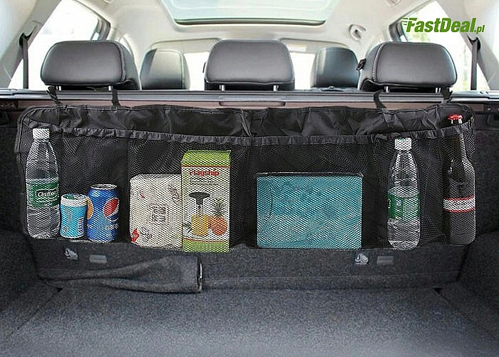 Uniwersalny i praktyczny organizer do bagażnika samochodowego, dzięki któremu zadbasz o porządek w swoim aucie