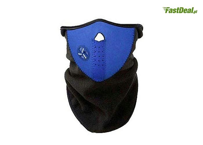Maska termoaktywna doskonale nadaje się do ochrony twarzy podczas aktywności fizycznych na wolnym powietrzu
