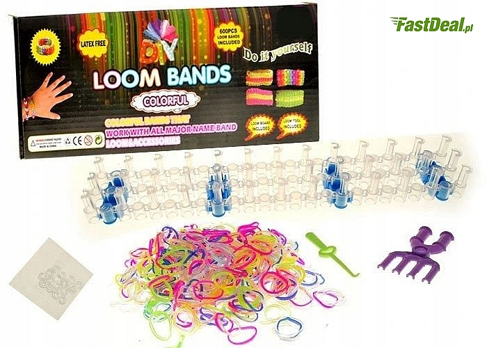 Gumki do bransoletek Loom Bands , duży zestaw 2500 szt
