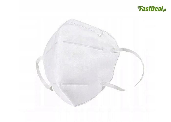 Maski filtrujące do ochrony dróg oddechowych. Autentyczna deklaracja zgodności CE,zgodne z europejską normę.Zestaw 10szt