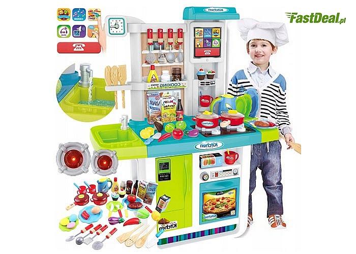 Kuchnia jak prawdziwa!!! Światło i dźwięk gotowania w palnikach, woda w kranie,piekarnik otwierany, radio itp.