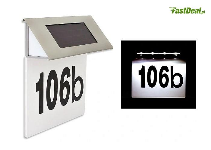 Tabliczka z numerem domu podświetlana diodami LED - Już nikt nie będzie miał problemów z trafieniem pod Twój adres