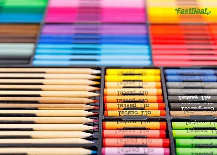 Zestaw artystyczny do malowania zamknięty w walizce! Aż 288 elementów w zestawie!