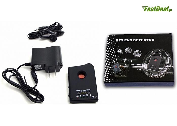 Uniwersalny detektor podsłuchów, kamer, lokalizatorów GPS, pluskiew i innych urządzeń szpiegowskich.