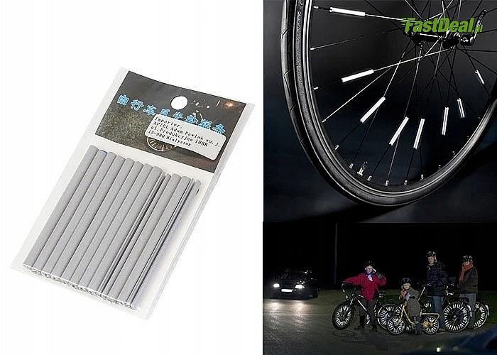 Rurki odblaskowe montowane na szprychy roweru - ZWIĘKSZ SWOJĄ WIDOCZNOŚĆ na drodze