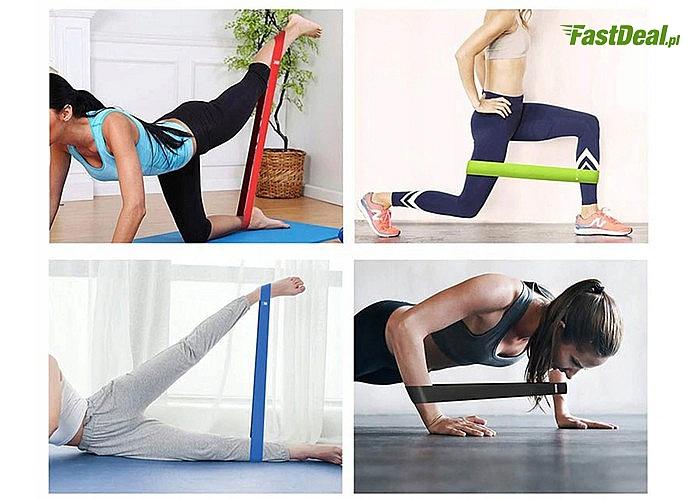 Zestaw 5 gum do ćwiczeń! Różne poziomy trudności! Naturalny i przyjazny dla środowiska lateks!