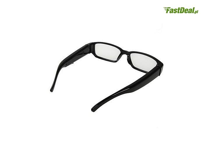 Okulary szpiegowskie z mini kamerą o wysokiej rozdzielczości.