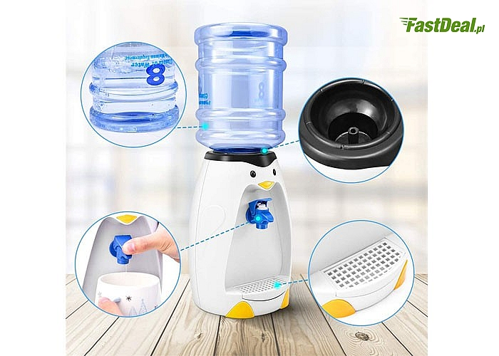 Picie może być także zabawą !!! Fantazyjny dystrybutor do wody napojów dla dzieci PINGWIN