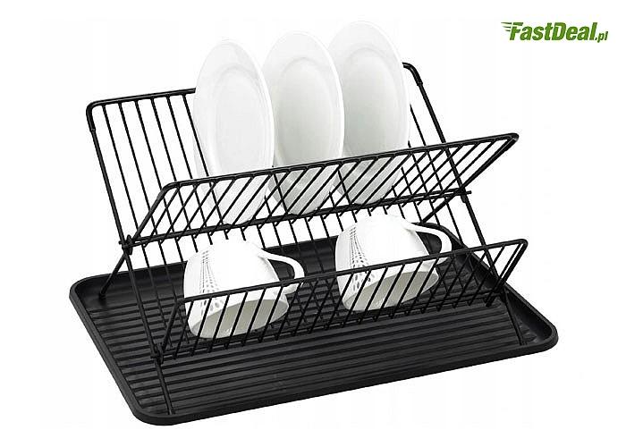 Praktyczna, wytrzymała i funkcjonalna suszarka do naczyń przydatna w każdej kuchni