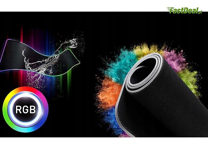 Nowoczesna podkładka gamingowa pod mysz idealny prezent dla osoby kochającej gry komputerowe i gadżety gamingowe