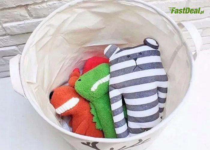 Praktyczny i jednocześnie estetyczny kosz na zabawki, dzięki któremu opanujesz bałagan w pokoju dziecięcym i nie tylko