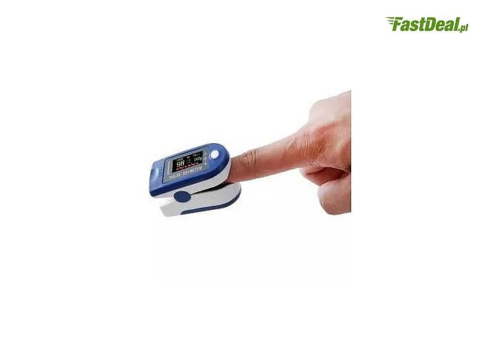 Wysokiej jakości napalcowy pulsoksymetr przeznaczony do pomiaru SpO2 oraz tętna zarówno u dorosłych jak i u dzieci.
